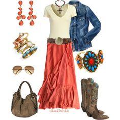 falda coral