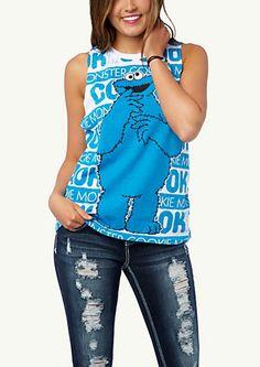 image of Cookie Monster Muscle Tee