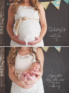 "baby photo idea: ""waiting to meet you."" Genius. So doing this. (Except have dad in the pic too)"