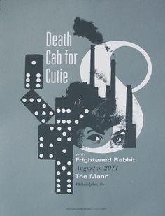 Death Cab for Cutie Philadelphia PA 2011 Poster