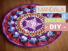 MANDALA a crochet: aprende a tejerlo con mi DIY (diestro)
