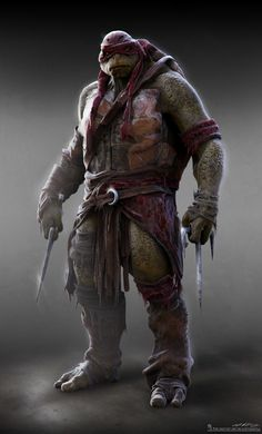 Concept art de Raphael en Teenage Mutant Ninja Turtles (2014), por Jared Krichevsky