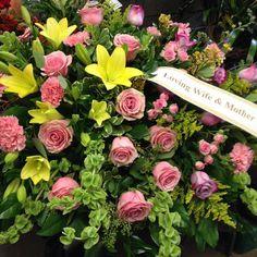 #casketspray #lilies #roses #carnations