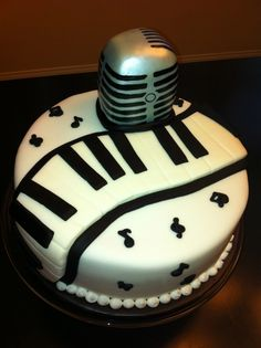@Kathleen DeCosmo ♡❤ #Cake ❥  Music cake  Microphone