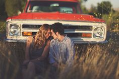 I want a picture in front of an old truck in a wheat field like this, so country! #jenniferwarthan