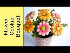 Cookie Bouquet - Gerbera Flower Cookies - How to make - YouTube