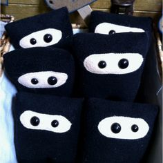 Ninjas!!! What's not to love? by KiraArts  http://kirascraftylife.blogspot.com/2012/04/whats-on-my-work-table-wednesday.html?m=1