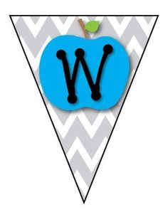 *FREE* CHEVRON  APPLES WELCOME BANNER - TeachersPayTeachers.com