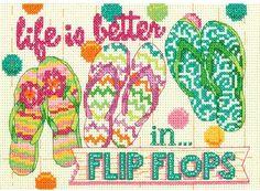 Flip Flops - Cross Stitch Patterns & Kits - 123Stitch.com