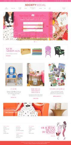 The website 'http://www.shopsocietysocial.com/' courtesy of @Pinstamatic (http://pinstamatic.com)