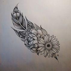 Resultado de imagen para sunflower mandala tattoo