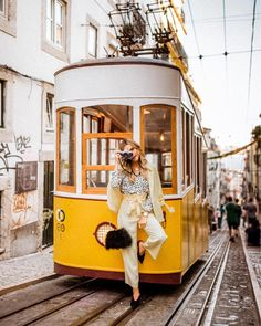 Lisbon Portugal travel, yellow trolley in Portugal, Visit Portugal, Portugal Travel, Sintra Portugal, Eurotrip, Magic Places, Travel Aesthetic, Travel Goals, Travel Style, Travel Pictures