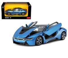 Awesome Awesome BMW I8 BLUE 1/24 DIECAST MODEL CAR BY RASTAR 56500 2017/2018 Check more at http://24auto.ml/bmw/awesome-bmw-i8-blue-124-diecast-model-car-by-rastar-56500-20172018/