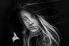scared girl in black by Alekcej Tugolukoff on 500px