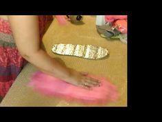 Валяем тапочки с ирисами часть 1 - YouTube