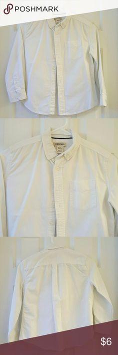 Little Boys White Button Down Shirt Little Boys White Button Down Shirt with a front pocket. Great condition. 100% Cotton. Cherokee Shirts & Tops Button Down Shirts