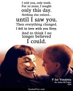 Not really sure who I love more, V himself or Hugo Weaving? Both is good, I guess. (V for Vendetta)
