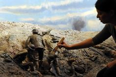 The dioramas of World War 1 trench warfare are really beautiful and moving. Truth And Lies, Warfare, World War, Grand Canyon, Mount Rushmore, Memories, Trench, Armour, Travel
