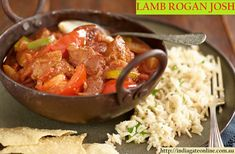 Turn up the heat with this easy homemade, one-pan lamb rogan josh recipe at Tesco Real Food. Lamb Rogan Josh, Philly Food, Slow Cooked Lamb, Tesco Real Food, Indian Food Recipes, Ethnic Recipes, Vegetable Puree, Latest Recipe, Indian Dishes