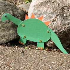 Moveable Paper Dinosaur | Crafts | Spoonful