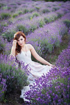 Portrait in a lavender field.