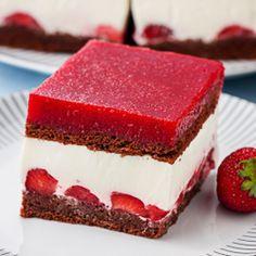 Ciasto jogurtowo-truskawkowe na zimno