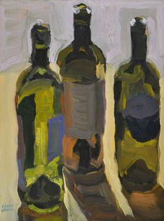 "Peggi Kroll Roberts, ""Backlit Bottles"", on the Plein Air Liaison Community Gallery, www.pleinairliaison.ning.com"