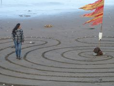 Yet another multicursal (more than one path) labyrinth. Again its on the Isle of Wight. It seems this unusual shape is the traditional labyrinth on the Isle of Wight.