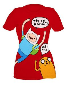 Adventure Time Finn And Jake On A Shirt Girls T-Shirt by Fred Seibert, via Flickr
