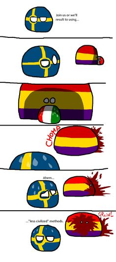 A NationStates comic countryball style. Found on Reddit.
