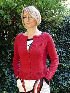 Ruby Tuesday Cardigan Pattern - free on Ravelry
