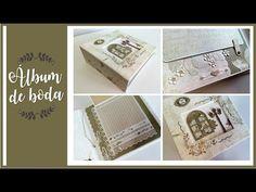 ALBUM DE BODA CLASICO - INSPIRACION | LLUNA NOVA SCRAP - YouTube Mini Scrapbook Albums, Mini Albums, Decorative Boxes, Paper Crafts, Personalized Items, Amor Youtube, Minis, 15 Years, Weddings