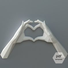 PDF Templates for Paper Wall Sculptures by OXYGAMI