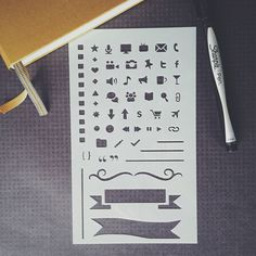 Are you a writer, blogger, vlogger, or editor? Then this is the stencil for your planner needs. Finally, a bullet journal stencil for online and