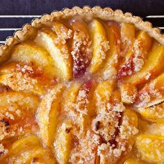 peach tart Every cook needs a good dessert recipe that can be whipped up anywhere -- especially when you're away from your kitchen and its mixer and rolling pin and comforting gadgets. This peach tart is that recipe. Köstliche Desserts, Best Dessert Recipes, Pie Recipes, Sweet Recipes, Delicious Desserts, Summer Desserts, Summer Recipes, Food52 Recipes, Summer Fruit