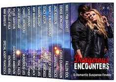 Only $3 for Dangerous Encounters: Thirteen Romantic Suspense Novels - Kindle edition by Nikki Lynn Barrett, Denise Moncrief, Jade Kerrion, Nancy Radke, Nolan Radke, Stacy Eaton, Sharon Coady, Amy Manemann, Cathy Perkins, Chantel Rhondeau, Jacquie Biggar, Sylvie Grayson, Rachelle Ayala, Mimi Barbour. Romance Kindle eBooks @ Amazon.com. Wow!! The reviews are fabulous - 3o reviews with a 4.7 rating!!