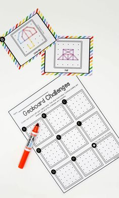 Activity for ages 4 to These geoboard STEM challenges are an amazingly simple tool for stretching Stem For Kids, Math For Kids, Kindergarten Stem, Tangram, Math Stem, Math Challenge, Stem Challenges, Stem Projects, Stem Activities