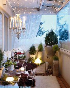 awesome Balkonlarda Yeni Yıl Süslemesi 2016