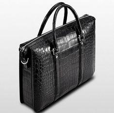 Mens Fashion Alligator Bag, Luxury Alligator Business Briefcase for Men