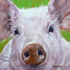 A Pig Painting Day, painting by artist Ruth Andre
