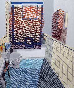 Jonas Wood - Untitled (Fish Bathroom), 2009