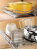 Roll-out Cabinet Drawers - Under Sink Organizer - Lid/Cutting Board Holder | Solutions