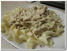 Super Easy Chicken Stroganoff Slow Cooker recipe (this is what I want tonight!)