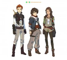 Kurt, some random dude, and Inola! -Trio Concept 1 by dCTb on DeviantArt Fantasy Character Design, Character Creation, Character Drawing, Character Design Inspiration, Character Concept, Concept Art, Character Ideas, Character Development, Character Design References