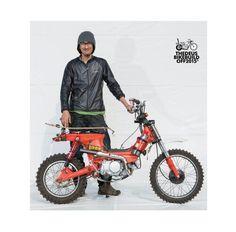 Custom honda trail bike