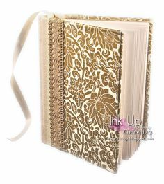 Ink Up: Gold Floral Casebound Book with Flat Spine, Headbands, and Ribbon Marker