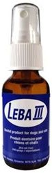 Leba lll, Dog and Cat Dental Spray, 1oz Bottle Lasts 4-6 Months  LEBA III, a unique dental spray for dogs and cats, balances the chemistry of the mouth to keep teeth clean and the gums healthy for the entire life of your pet, without side effects
