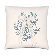 Coastal Christmas Down Pillow via The Beach Look. Click on the image to see more!