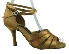 Natural Spin Signature Latin Shoes(Open Toe):  H1165-01_GoldES