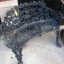 Best of the benches! This week Classified staffers compiled cool benches, like this Antique Ornate Iron Garden Bench. See all the fab local finds at powered by @krrbsale: classifieds.chicagomag.com.